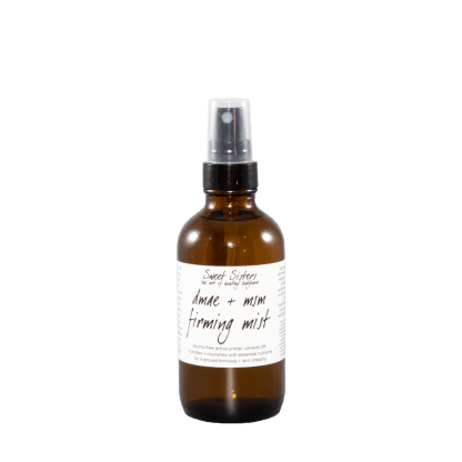 DMAE MSM firming face and body mist natural safe assertive small batch skincare