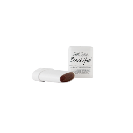 lip scrub exfoliant and lip balm made with organic beet powder