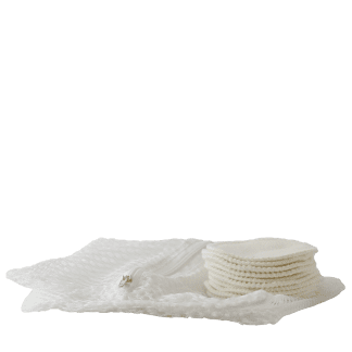 organic cotton facial rounds for cleansing + toners
