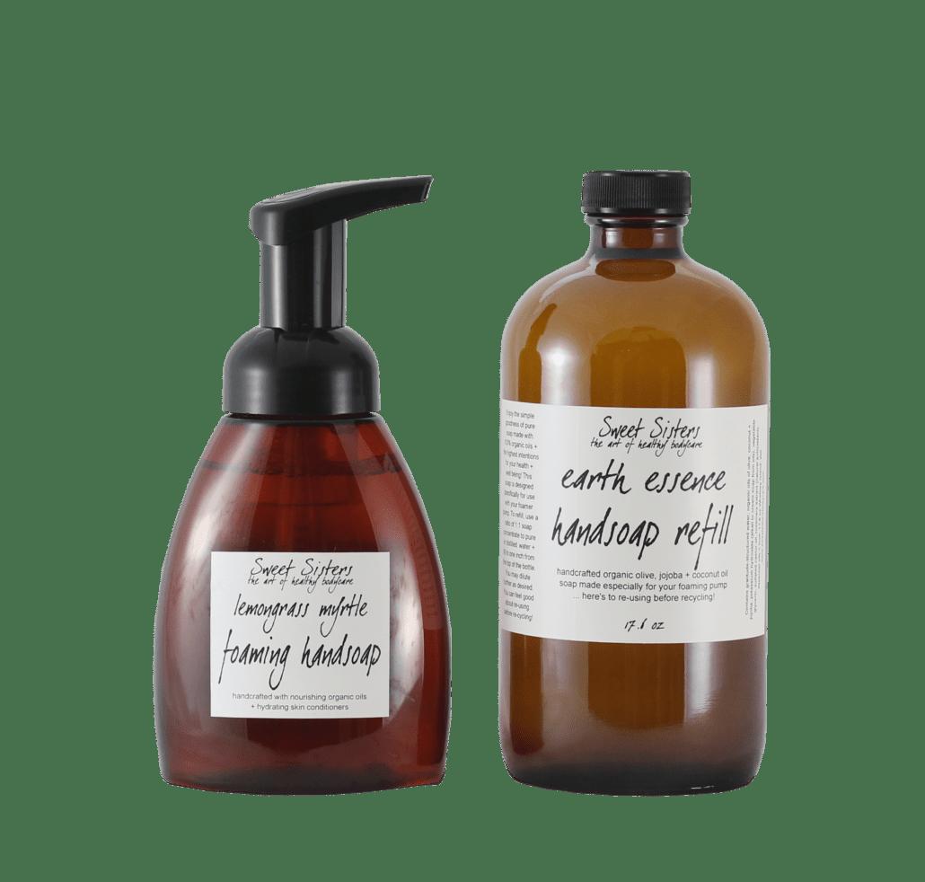 organic vegan foaming hand sopa with pure essential oils