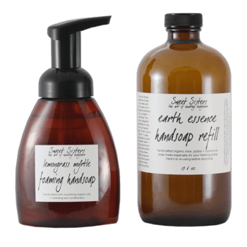 organic vegan foaming hand sopa with pure essential oils