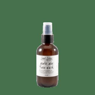aloe vera foaming face wash gentle non-drying small batch organic