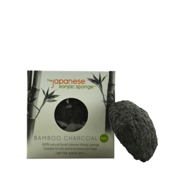 activated charcoal natural fiber konjac sponge face scrub gentle cleanser