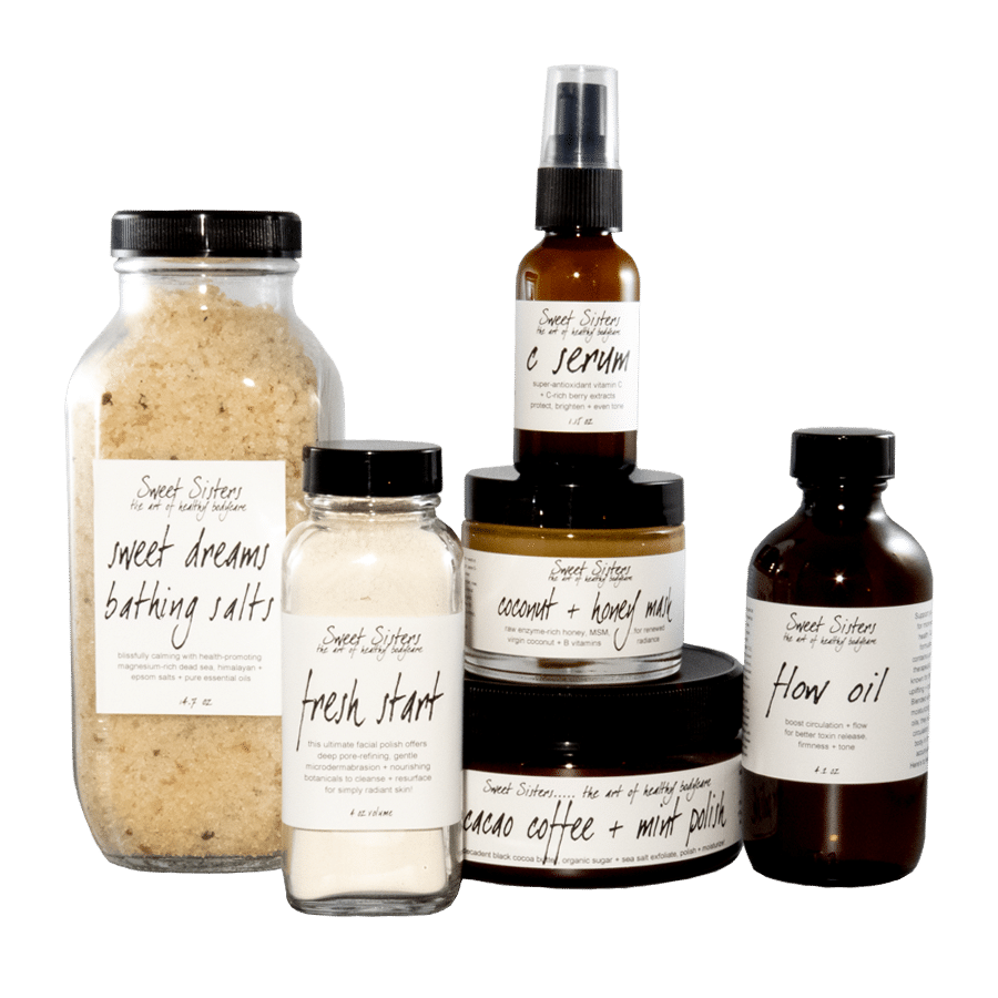 the ultimate spa-at-home set handcrafted organic Bodycare