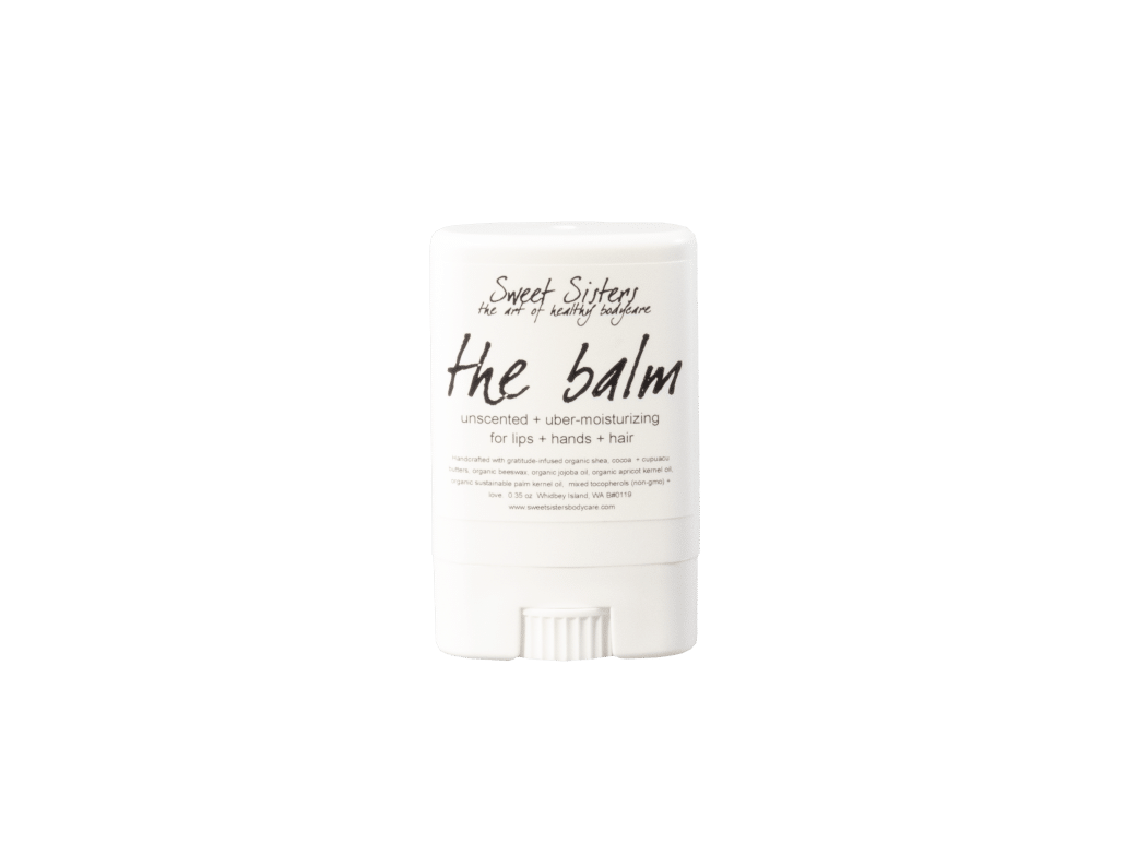 the balm for lips hair and body organic all natural unscented