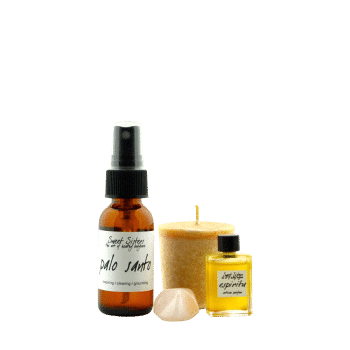 yoga and meditation set essential oil natural perfume air-cleaning beeswax candle crystal