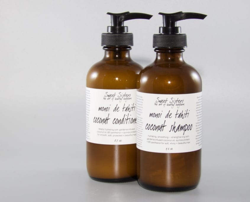 sustainable recyclable reusable glass packaging for bath and shower products