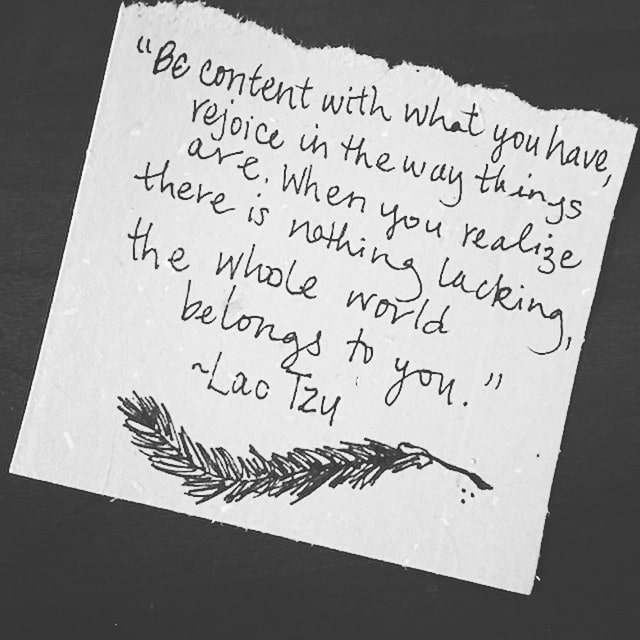 Lao Tzu quote COntentment