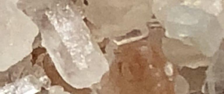 bath salt crystals beathing beauty