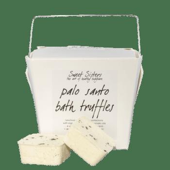 Palo Santo cocoa cardamom bath truffles organic skin safe bath bombs