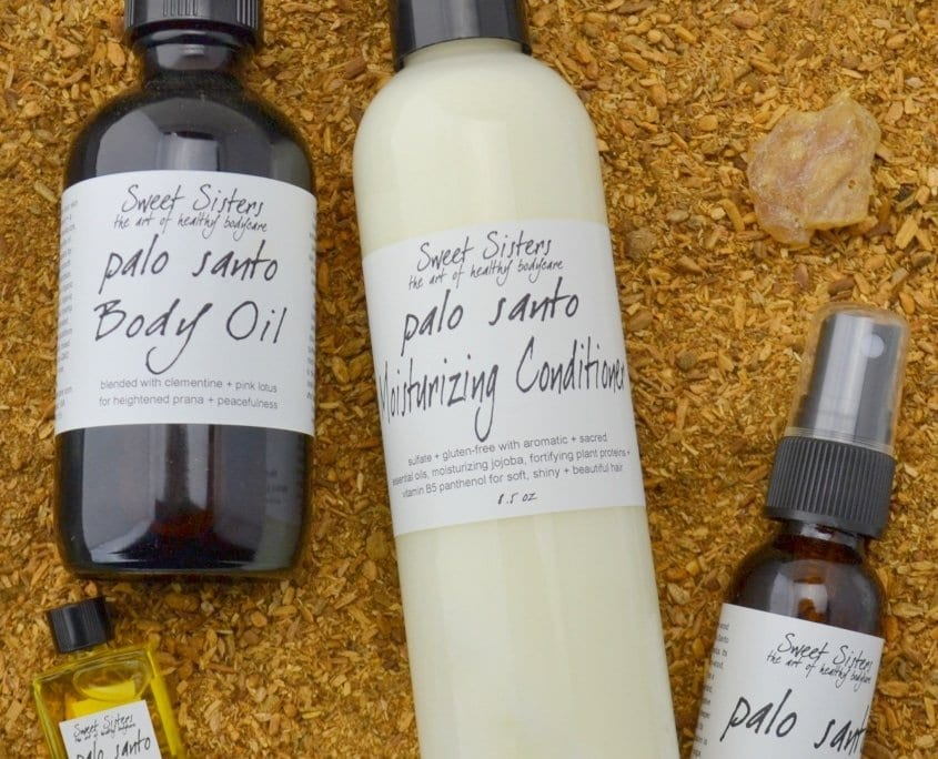 Palo Santo organic body care small batch handcrafted