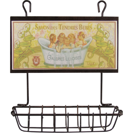 french country hanging wire soap dish
