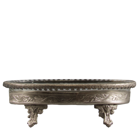 silver and glass soap dish india